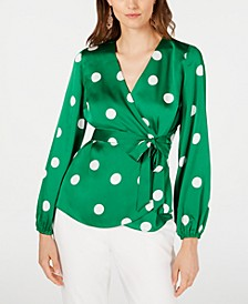 INC Dotted Wrap Blouse, Created for Macy's
