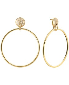 Michael Kors 14k Gold-Plated Sterling Silver Mercer Medium Link Door Knocker Earrings 1.88""