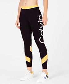 Calvin Klein Performance High-Rise Colorblocked Logo Leggings