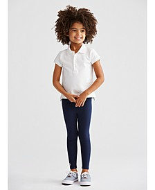 Toddler Girls Polo Shirt & Leggings