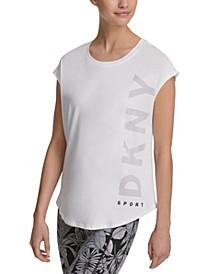 Sport Logo Cap-Sleeve T-Shirt