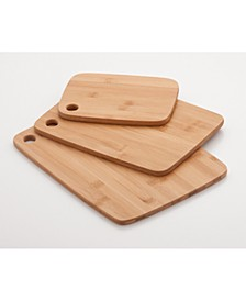 Cookpro 3 Piece Eco-Friendly Bamboo Cutting Board Set