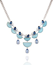 T Tahari Stones And Shells Statement Necklace