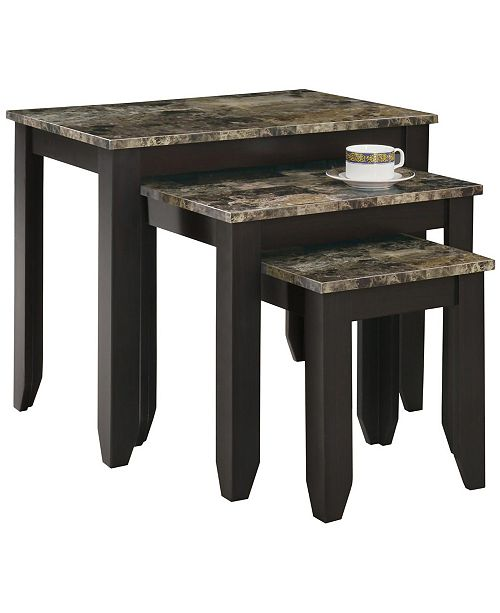 Monarch Specialties 3 Piece Nesting Table Set