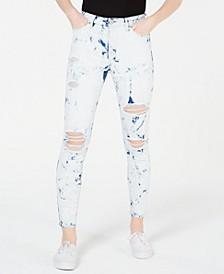 Juniors' Tie-Dye Skinny Jeans