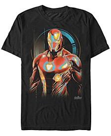 Men's Avengers Infinity War Ironman Glowing Short Sleeve T-Shirt