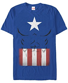 Marvel Men's Comic Collection Captain America Suit Short Sleeve T-Shirt