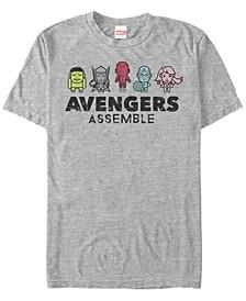 Men's Comic Collection Kawaii Avengers Assemble Short Sleeve T-Shirt