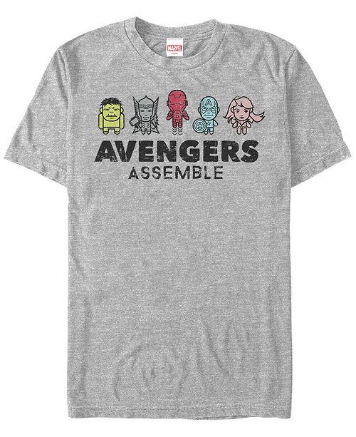 Marvel Men's Comic Collection Kawaii Avengers Assemble Short Sleeve T-Shirt