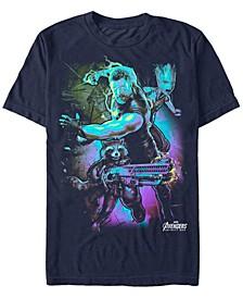 Men's Avengers Infinity War Neon Fighting Three Short Sleeve T-Shirt