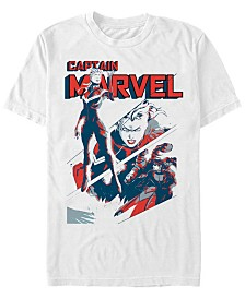 Marvel Men's Comic Collection Captain Marvel Silhouette Short Sleeve T-Shirt