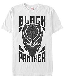 Marvel Men's Comic Collection Black Panther Geometric Gaze Short Sleeve T-Shirt