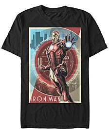 Men's Avengers Iron Man Power Poster Short Sleeve T-Shirt