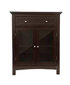 Shelved Floor Cabinet with Double Doors