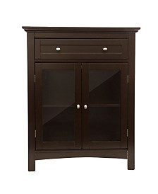 Glitzhome Shelved Floor Cabinet with Double Doors