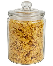 HDS Trading Renaissance Collection Medium Glass Jar with Easy Grab Knob Handles