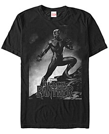 Men's Black Panther Posed Black Panther Short Sleeve T-Shirt