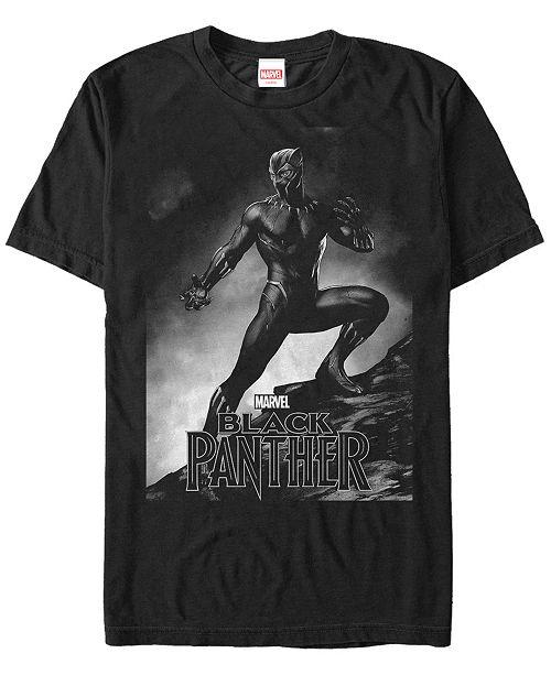 Marvel Men's Black Panther Posed Black Panther Short Sleeve T-Shirt