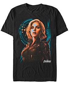 Men's Avengers Infinity War Painted Agent Widow Short Sleeve T-Shirt