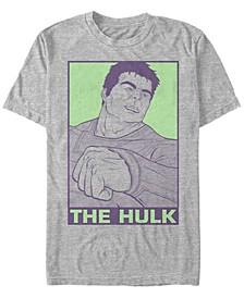 Men's Avengers Pop Art Hulk Short Sleeve T-Shirt