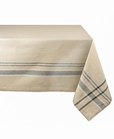 """Chambray French Stripe Tablecloth 60"""" x 84"""""""