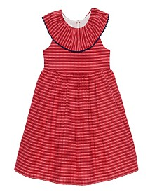 Laura Ashley London Baby Girl's Ruffle Collar Seersucker Dress