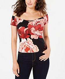 Off-The-Shoulder Floral-Print Top