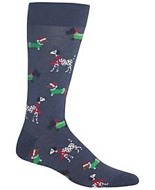Men's Socks, Holiday Animal Crew