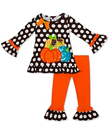 Baby Girls 2-Pc. Pumpkin Tunic & Leggings Set