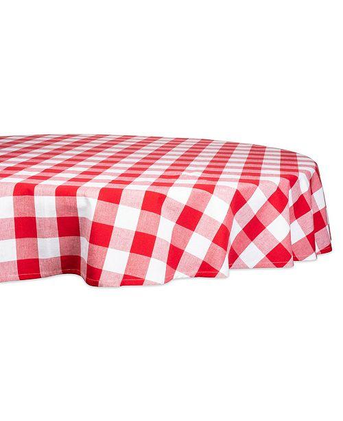 "Design Import Buffalo Check Tablecloth 70"" Round"