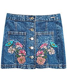 GUESS Big Girls Cotton Embroidered Denim Skirt