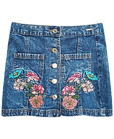 GUESS Big Girls Cotton Embroidered Denim Skirt