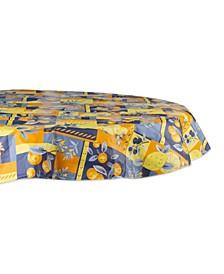 "Lemons 60"" Round Vinyl Tablecloth"