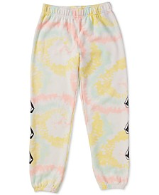 Volcom Big Girls Tie-Dyed Fleece Jogger Pants
