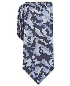 I.N.C. Men's Skinny Camouflage Tie, Created for Macy's