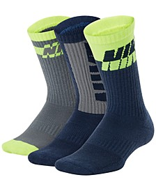 Big Boys 3-Pk. Dri-FIT Everyday Comfort Crew Socks