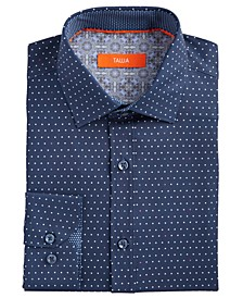 Men's Slim-Fit Performance Stretch Dots Dress Shirt