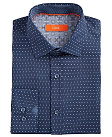 Tallia Men's Slim-Fit Performance Stretch Dots Dress Shirt