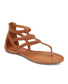 Olivia Miller Day Trippin Braided Strap Sandals