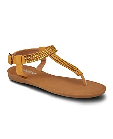 Olivia Miller Roman Holiday Embellished Sandals