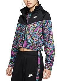 Women's Sportswear Printed Cropped Jacket