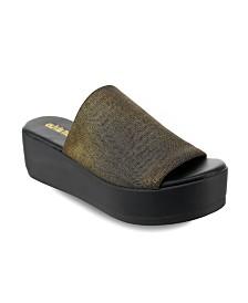 Olivia Miller Pembroke Platform Slide Sandals