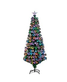 6-Foot High Fiber Optic Color-Changing Tree