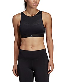 High-Neck Strappy-Back Medium-Support Sports Bra