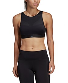 adidas High-Neck Strappy-Back Medium-Support Sports Bra