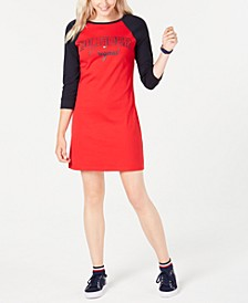Raglan-Sleeve Cotton T-Shirt Dress