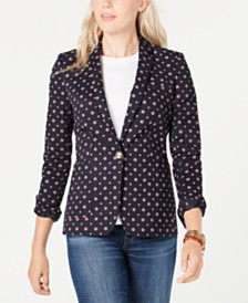 Tommy Hilfiger Ditsy Floral Blazer, Created for Macy's