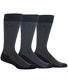Polo Ralph Lauren Men's 3-Pk. Performance Dress Socks