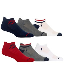 Polo Ralph Lauren Men's 6-Pk. Low-Cut Socks