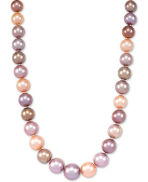 """Multicolor Cultured Ming Pearl (9-13mm) Graduated 18"""" Collar Necklace"""